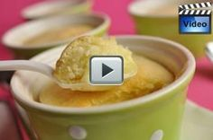 Lemon Sponge Pudding has two layers, a top layer that is a light and airy white sponge cake and underneath is a deliciously tangy lemon sauce. From Joyofbaking.com With Demo Video