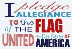Pledge of Allegiance, USA, patriotism, red, white, blue