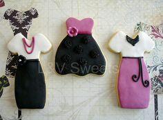 Trendy Dress cookies by L sweets, via Flickr