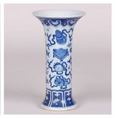 Blue and White Beaker Vase