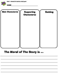 You this organizer with your student's to help them identify the moral of a story.  Also great before a writing assignment or to use with a close reading strategy.