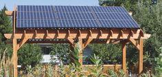 Solar pergola for pool area