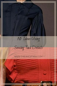 10 ideas using sewing tuck details