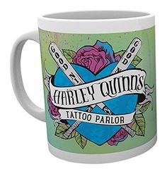 """GB eye Ltd """"Suicide Squad-Harley Quinn Tattoo Parlour"""" Mug, Wood, Multi-Colour in Clothes, Shoes & Accessories, Women's Clothing, T-Shirts 