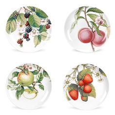 Portmeirion Eden Fruits 27cm Plates Set of 4 - Eden Fruits - Offers - Portmeirion UK