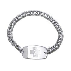 This is our classic Herringbone bracelet made out of Stainless Steel for only $29!  Includes 5 lines of custom engraving and free shipping!
