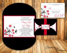 Black and red invite