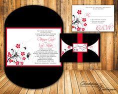 Black and red invite