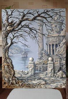 Создаем барельеф «Старый маяк» – Ярмарка Мастеров