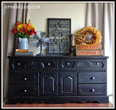 {createinspire}: Painting MDF: An redo Redo Furniture, Decor, Painted Furniture, Dressers Makeover, Black Painted Furniture, Modern Furniture, Diy Furniture, Furniture, 80s Furniture