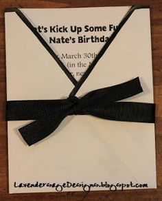 Karate card from Lavender Sage Designs