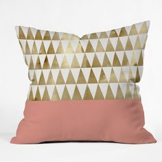 Georgiana Paraschiv Gold Triangles Throw Pillow | DENY Designs Home Accessories