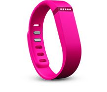fitbit Flex™ Wireless Activity + Sleep Wristband Tracks steps, distance, calories burned and active minutes. LED lights show progress against your goal. Monitors your sleep and wakes you with a silent alarm. Wear all day and night, even in the shower. Includes tracker, small and large wristbands (sizing guide), charging cable and wireless sync dongle