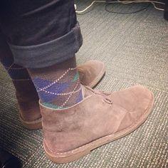 Happy socks and #Clarks Desert Boots