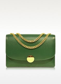 Love, Love. Love. Box Calf Trouble Bottle Green Shoulder Bag - Marc Jacobs