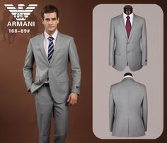 Armani Two Buttons Suit Grey 11