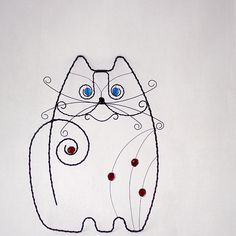Wire cat | Yes, he's wire but he's also inspiring lines .....
