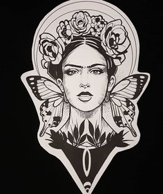 Another frida kahlo design ...that one its also available for tattooing