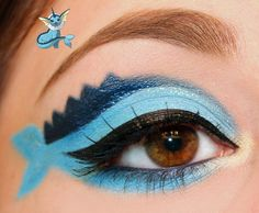 Pokemon Series : Vaporeon Inspired Makeup by Luhivy on DeviantArt