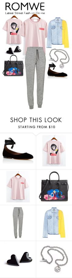 """""""Untitled #590"""" by jeauhall ❤ liked on Polyvore featuring Tabitha Simmons, Yves Saint Laurent, Icebreaker, Off-White and Annika Rutlin"""