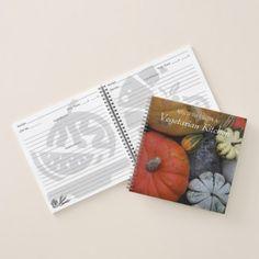 Harvest Vegetables Photo Vegetarian Recipe Notebook - diy individual customized design unique ideas