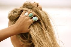 I love turquoise, but I don't think I could pull off rings this size- I might just look frumpy