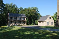 New Custom Home in West Grove, Pennsylvania. Shown with detached Side-Load Garage.