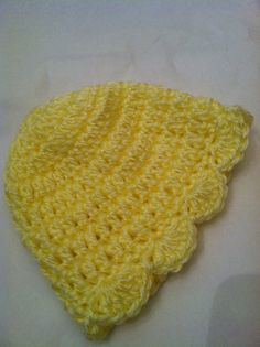 Yellow Baby Hat Newborn Baby Girl Hat  Cozy by LakeviewCottageKids, $18.00