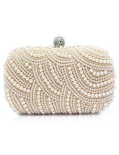 Pearls Clutch Bag Vintage Evening Purse Bridal Beaded Great Gatsby Handbags 273a91c32562