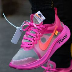"""info for 05f62 5ead0 Part of the Off-White x Nike Zoom Fly Pink Collection, Virgil Abloh debuts  the """"Tulip Pink"""" colorway of the Off-White x Nike Zoom Fly silhouette."""