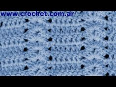 Punto Fantasía Nº 46 en tejido crochet tutorial paso a paso. 29/07