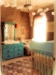 lovely boho/hippie nursery