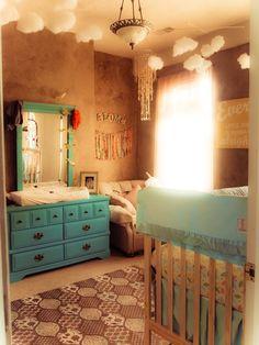 lovely boho/hippie nursery