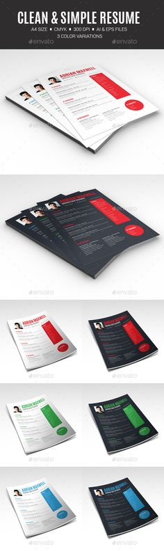 Clean \ Stylish Resume Vol -1 Cleaning and Professional resume - hybrid resume template word