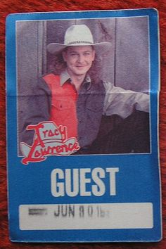 TRACY LAWRENCE 5 PC LOT Guest PASS FULL TICKETS 1995 COUNTRY Fort Henry Safely Stored For Over 23 Years   This Will be a great Gift for any Fan  Shipping will be within 2 days of your payment  All Sales are Guaranteed Satisfaction  We are Fans so we know what fans Expect  THEMIGHTYFINWAH Tracy Lawrence, Just Letting You Know, Public Profile, Saved Items, Backstage, Ticket, Great Gifts, Fans, Country