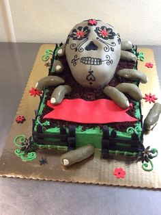 Sugar Skull Cake with Cake Truffle Fingers!