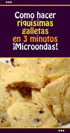 How to make delicious cookies in 3 minutes. - Comida Faciles Y Rapida My Recipes, Sweet Recipes, Cookie Recipes, Snack Recipes, Dessert Recipes, Favorite Recipes, Desserts, Microwave Cake, Microwave Recipes
