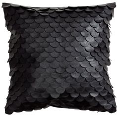 Imitation Leather Scale Pattern Pillow Cover Accent Decorative Throw... ($25) ❤ liked on Polyvore featuring home, home decor, throw pillows, patterned throw pillows, cotton throw pillows, faux leather throw pillows, black home decor and black toss pillows