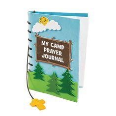 Camp Courage Prayer Journal Craft Kit - OrientalTrading.com