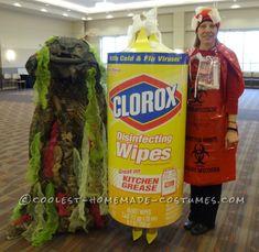 Costume du désinfectant, des germes et des risques de maladies biologiques