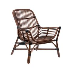 Sleek rattan style and comfortable wood make this a chair that you'll want to sit in for the long haul. Grab a travel book and start figuring out where you're going next year.