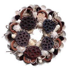 Terméses koszorú (barna-fehér) Napkin Rings, Decor, Decoration, Decorating, Napkin Holders, Deco