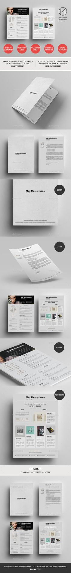 Indesign Cv Resume Inspiration Minimal Color Amir Hadzic  Dg  Cv