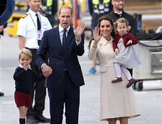 Catherine, Duchess of Cambridge, Prince William, Duke of Cambridge, Prince George and Princess Charlotte depart Victoria after the Royal Tour of Canada at Victoria Inner Harbour on October 1, 2016 in Victoria, Canada.