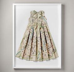 Hand-Folded Vintage Map Dress