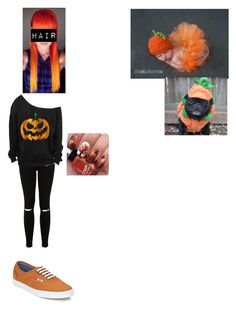 """Pumpkins"" by calm-hich-psych ❤ liked on Polyvore featuring Miss Selfridge and Vans"