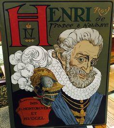Henri Roy de France & Navarre Colorful book cover #color #book #art #france