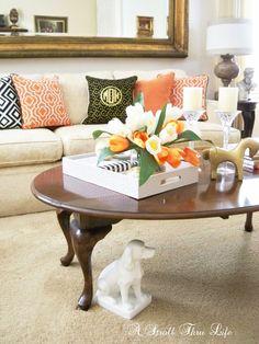 A Stroll Thru Life: Let's Do Color-Spring Living Room