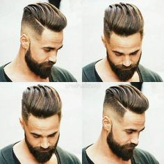 Corte de chico con barba