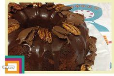 Bolo de Chocolate e Nozes Pecan [sem açúcar e sem glúten] | bake me